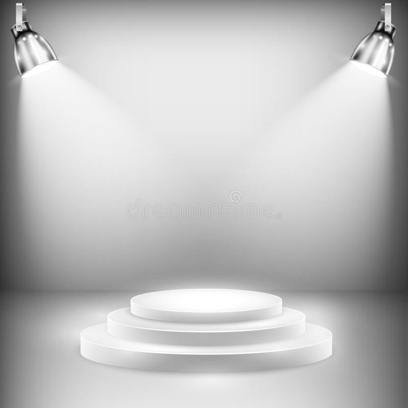 聚光灯阐明的发光的阶段 皇族释放例证