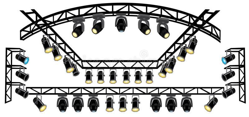 聚光灯阶段桁架 向量例证