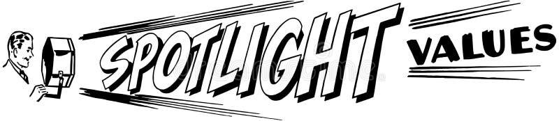 聚光灯价值 向量例证