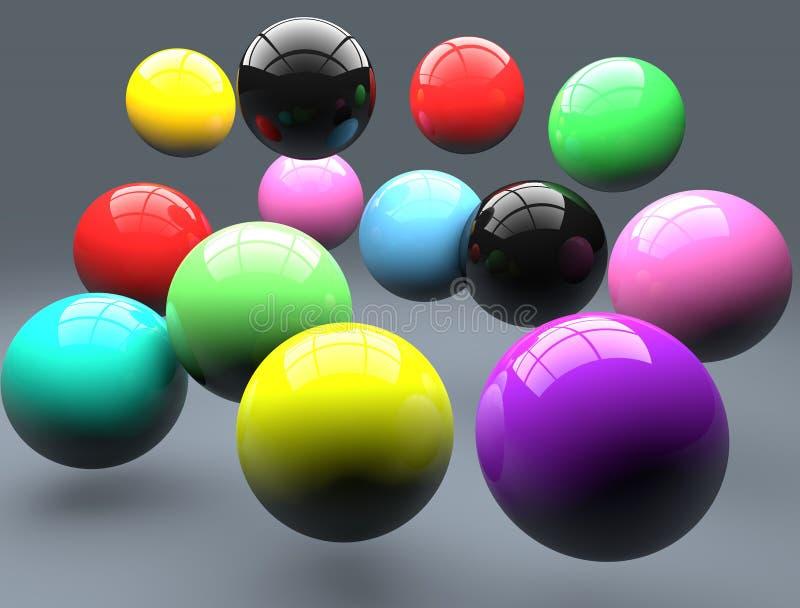 聚合物球 皇族释放例证