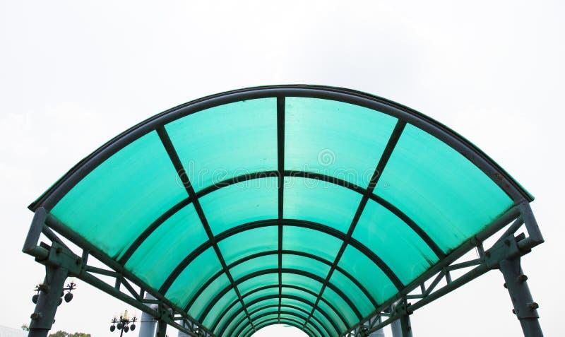 聚碳酸酯纤维屋顶 库存图片