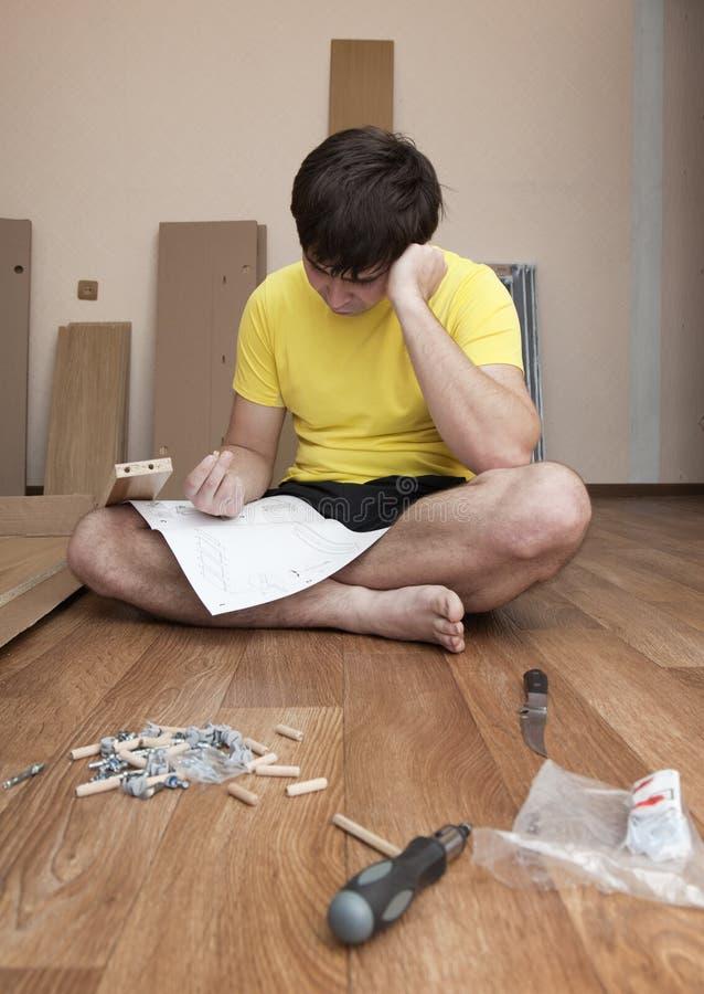 聚集的家具 免版税库存照片