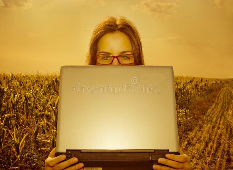 聪明农业的工程师 免版税库存照片
