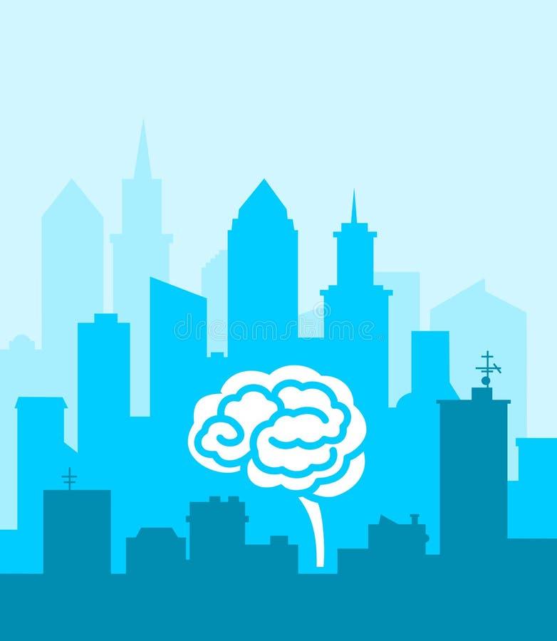 聪明的城市 库存例证