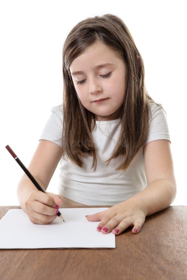 聪明的女孩 免版税库存图片