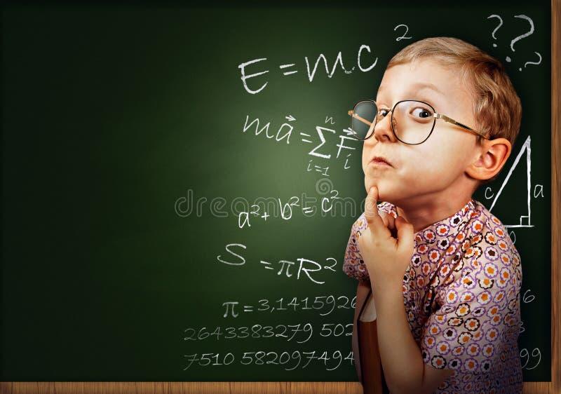 聪明的学生男孩纵向 免版税库存图片