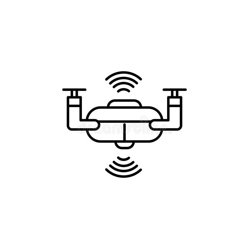 聪明的寄生虫概念线象 简单的元素例证 从人工智能的聪明的寄生虫概念概述标志设计 向量例证