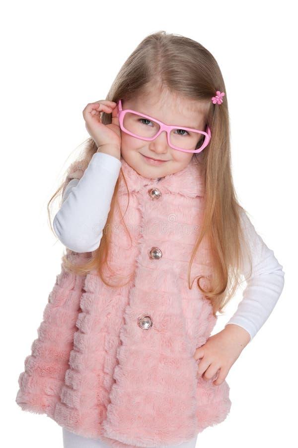 聪明的小女孩 库存照片