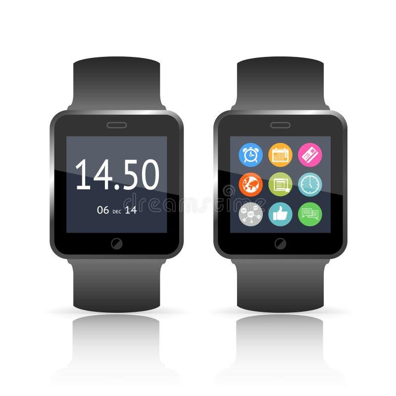 聪明的手表传染媒介例证 向量例证
