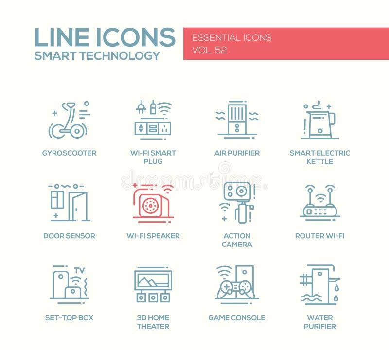 聪明的技术线被设置的设计象 向量例证