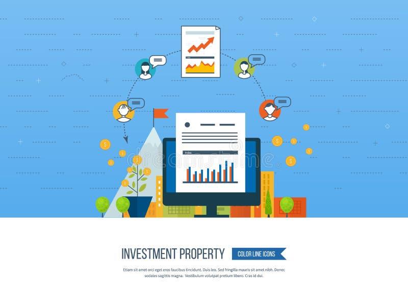 聪明的投资的,财务,银行业务,战略管理概念, 库存例证