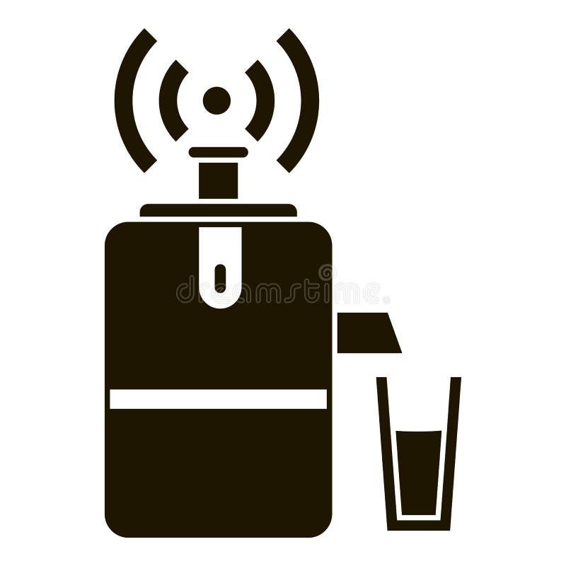 聪明的汁液设备象,简单的样式 库存例证