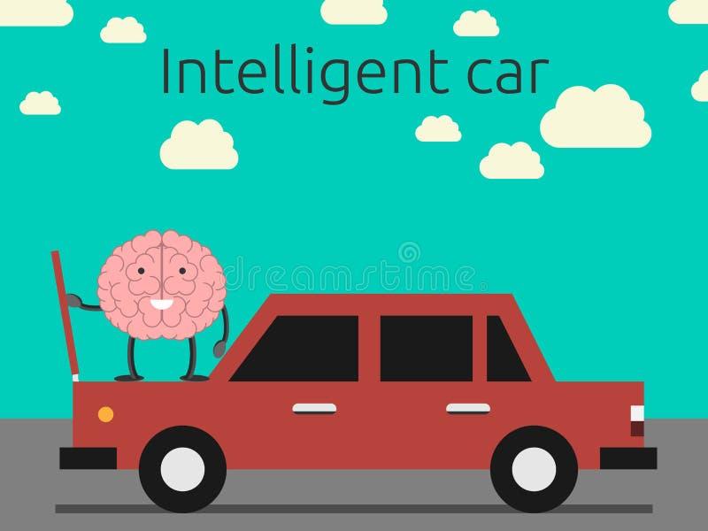 聪明的汽车概念 向量例证