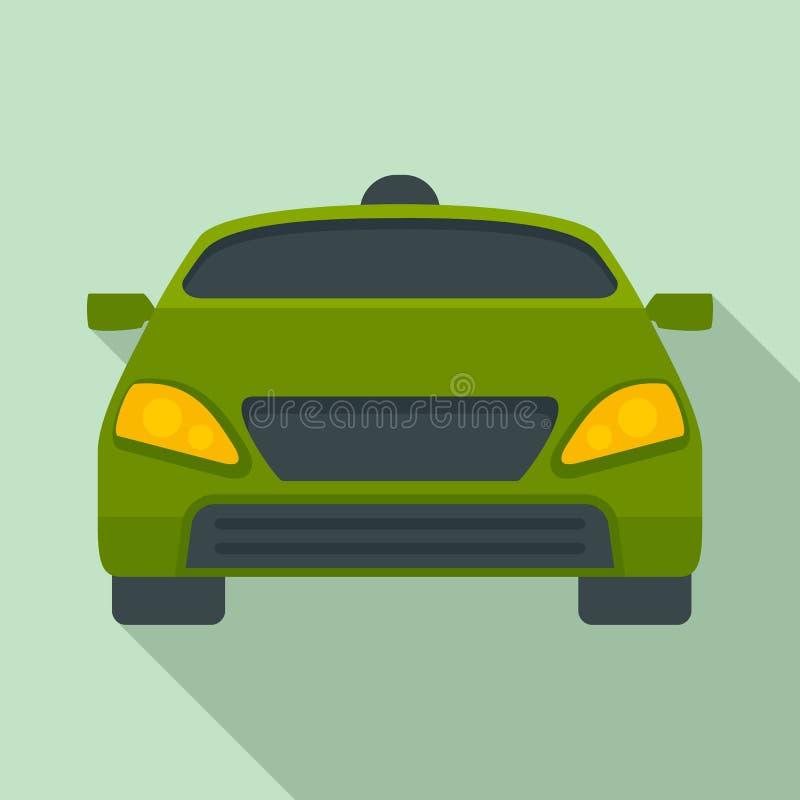 聪明的现代汽车象,平的样式 库存例证