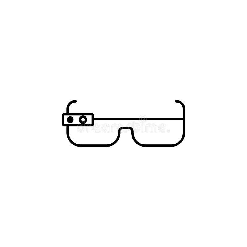 聪明的玻璃象 未来技术象的元素流动概念和网apps的 稀薄的线聪明的玻璃象可以是半新fo 库存例证