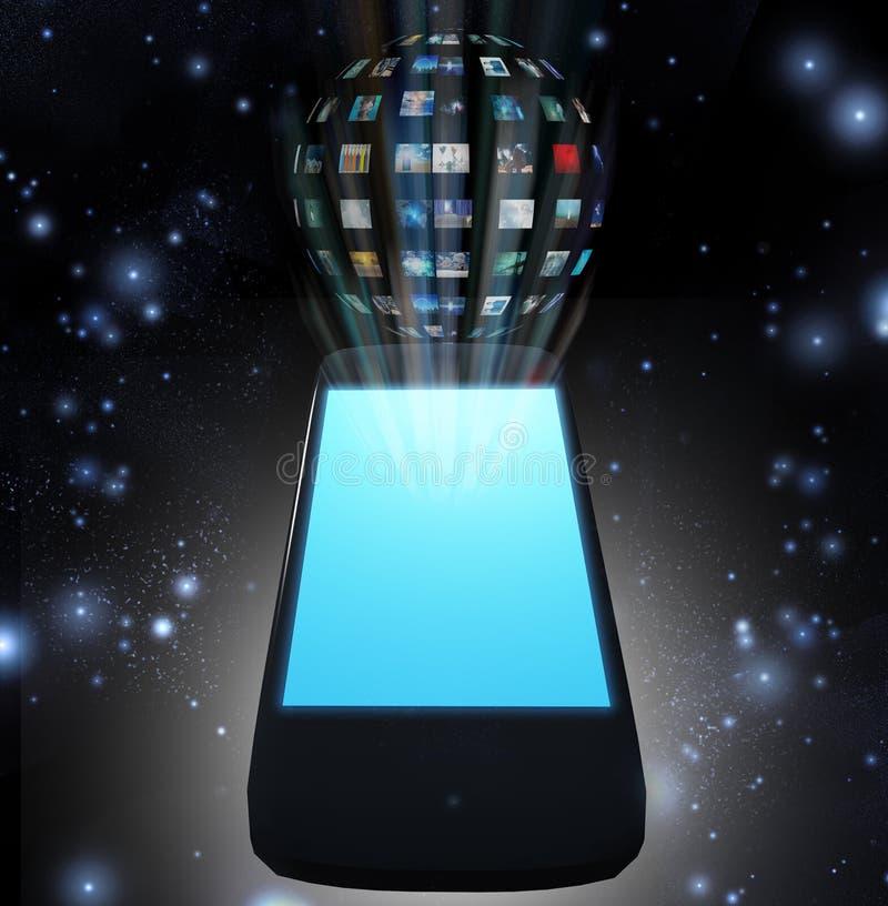 聪明的电话录影球形 库存例证