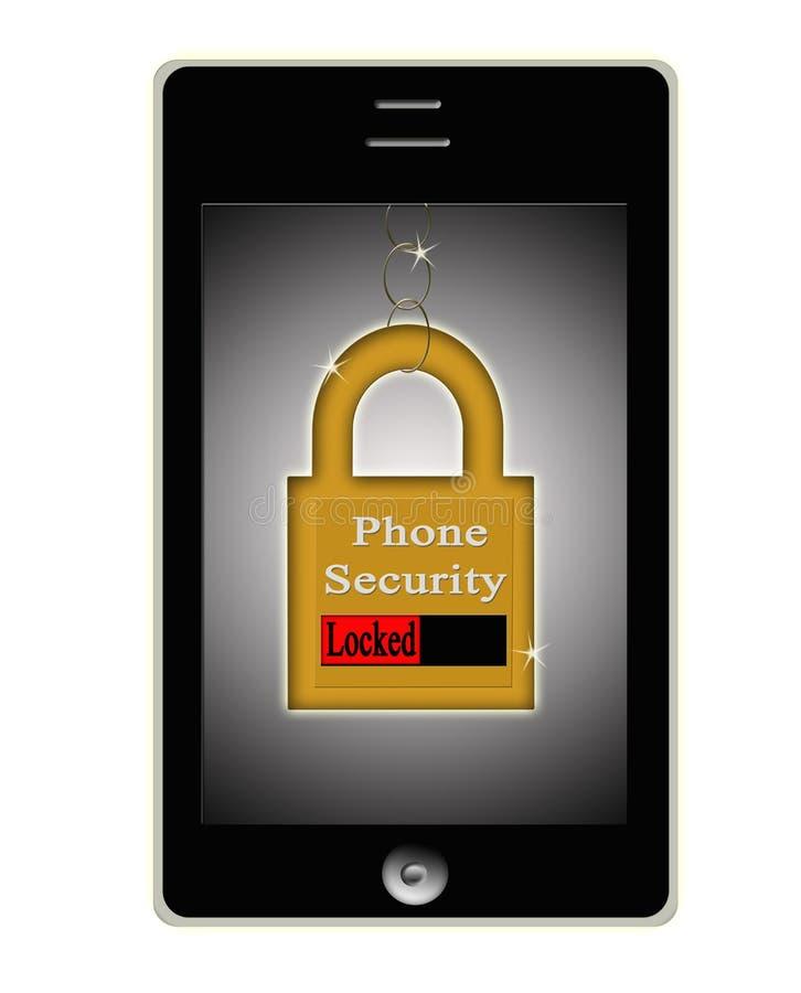 聪明的电话电池证券锁定概念徽标 向量例证