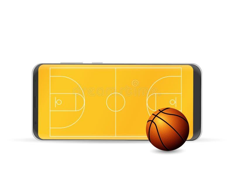 聪明的电话篮球 皇族释放例证