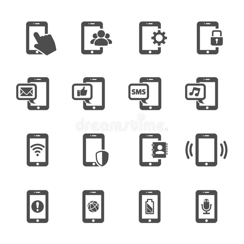 聪明的电话通信象集合,传染媒介eps10 库存例证