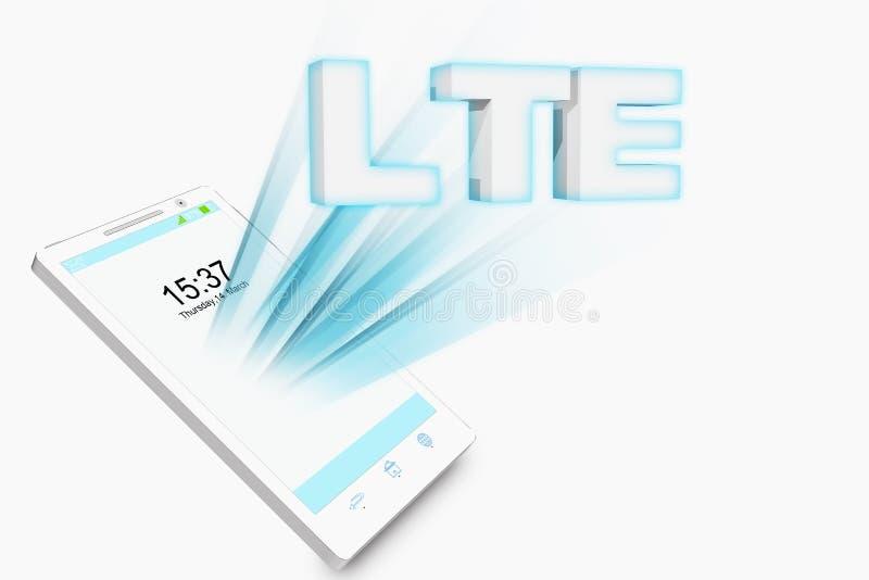 聪明的电话LTE例证 皇族释放例证