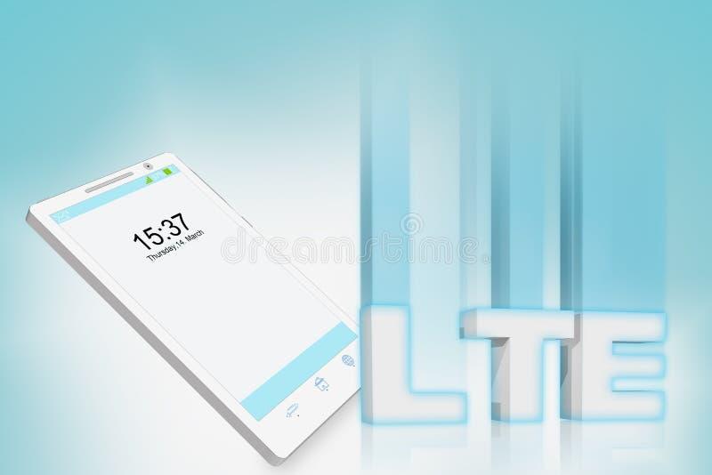 聪明的电话LTE例证 向量例证