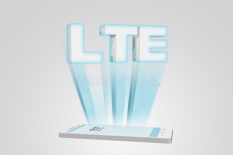 聪明的电话LTE例证 库存例证