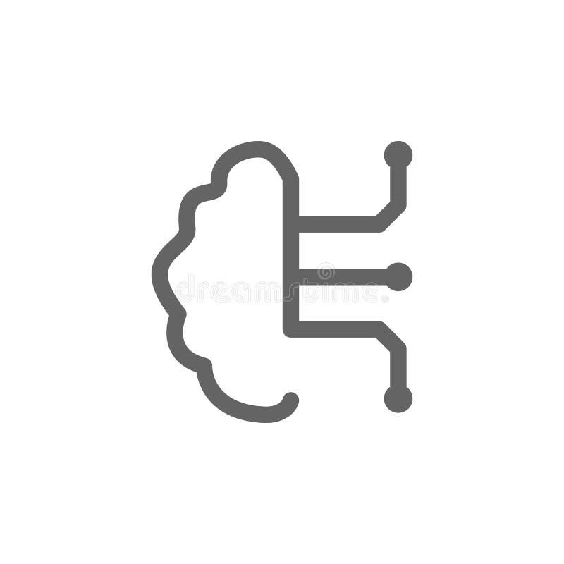 聪明的脑子象 简单的象的元素 库存例证