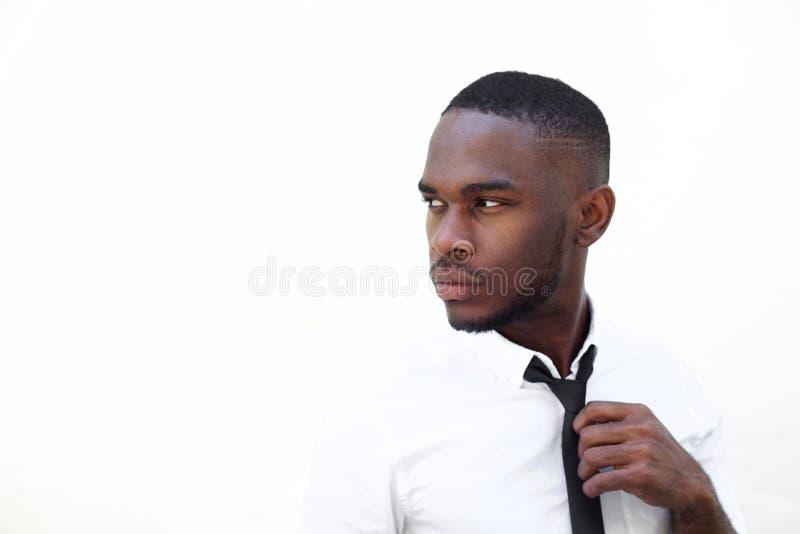 聪明的年轻非洲商人 免版税库存照片