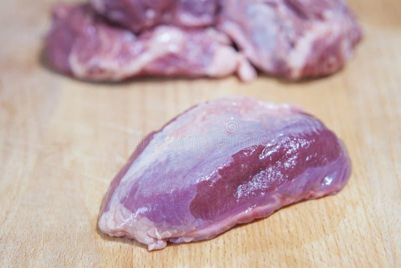 肉利比亚猪面颊片断  免版税图库摄影