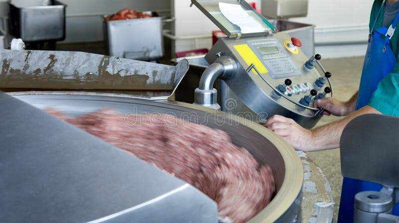 肉剁碎的生产 图库摄影