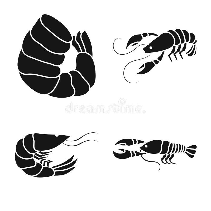 肉和纤巧标志传染媒介设计  肉和螃蟹股票的传染媒介象的汇集 库存例证