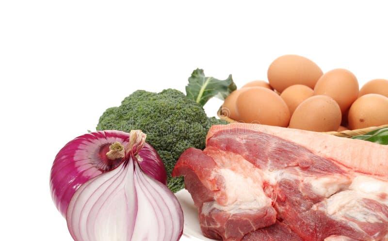 肉和蔬菜 图库摄影