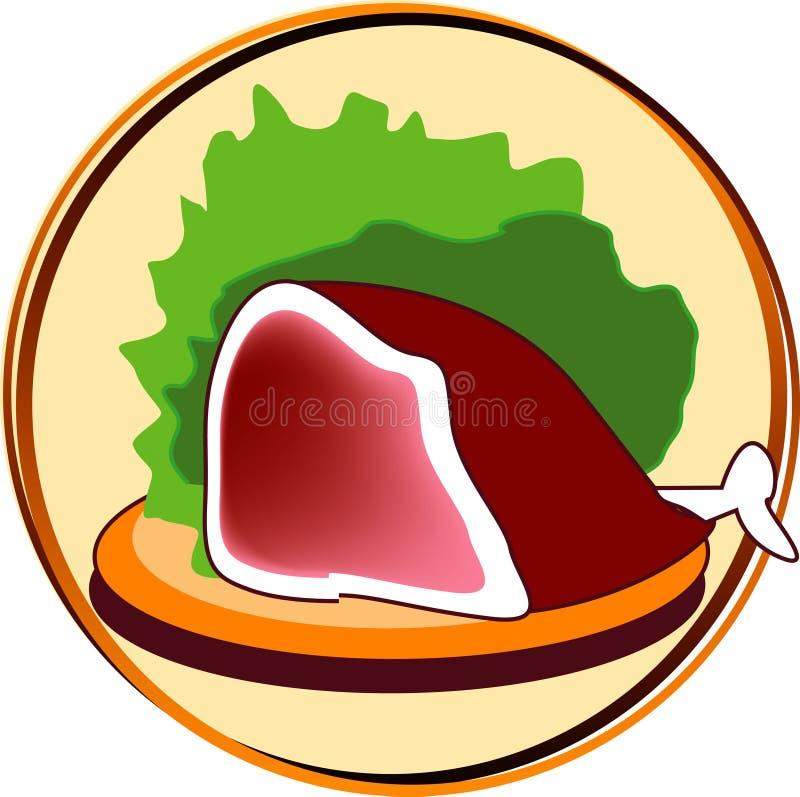 肉图表 向量例证