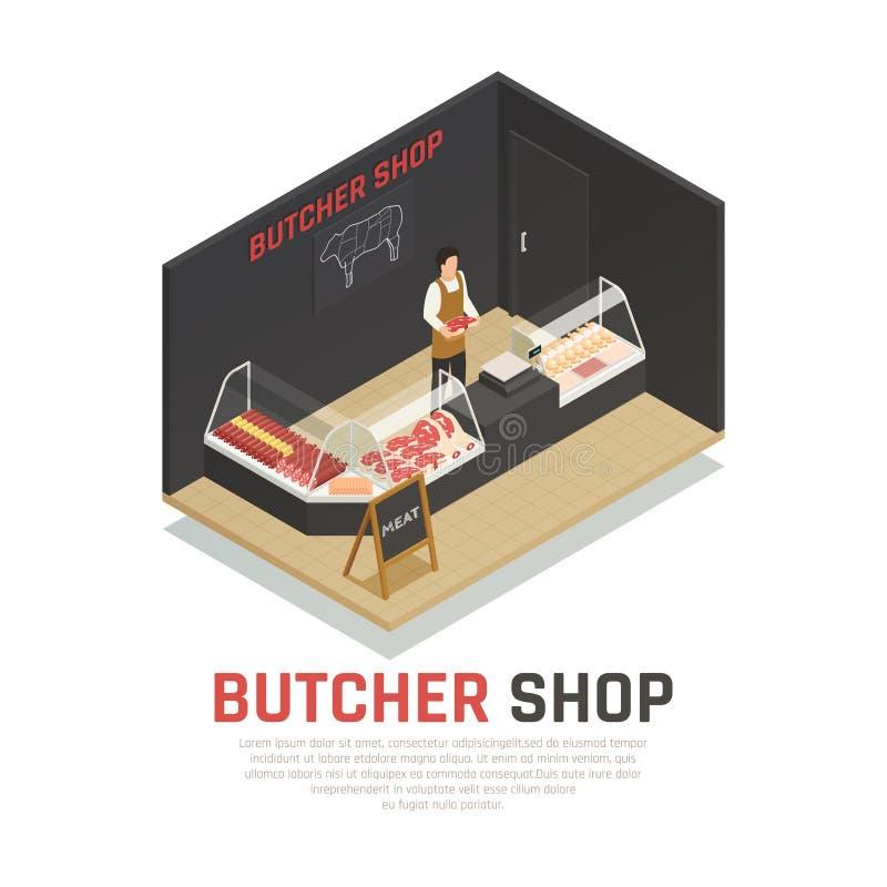肉店等量构成 向量例证