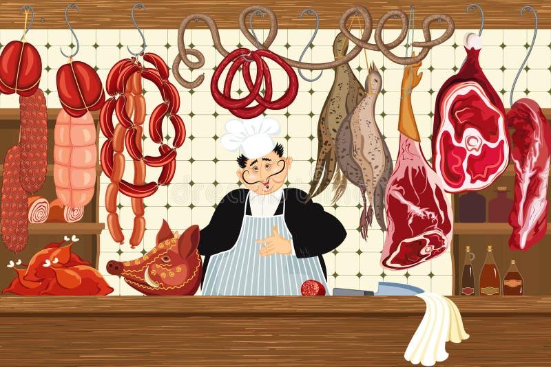 肉店 库存例证