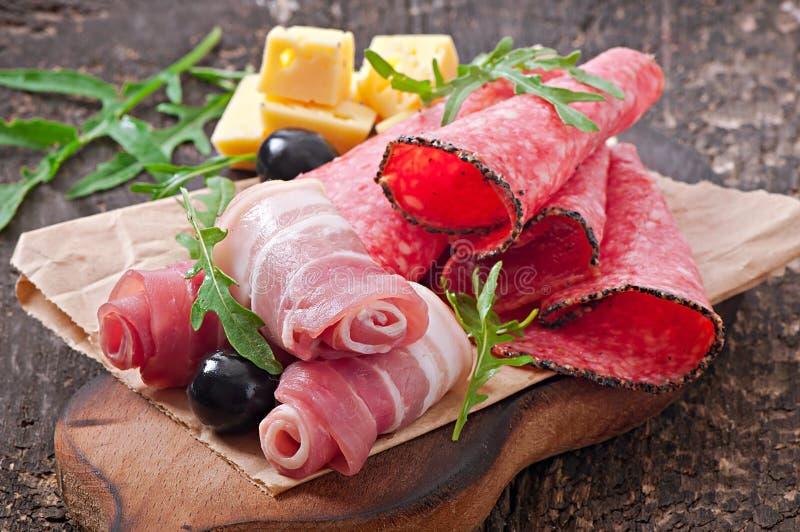 肉开胃菜 库存图片