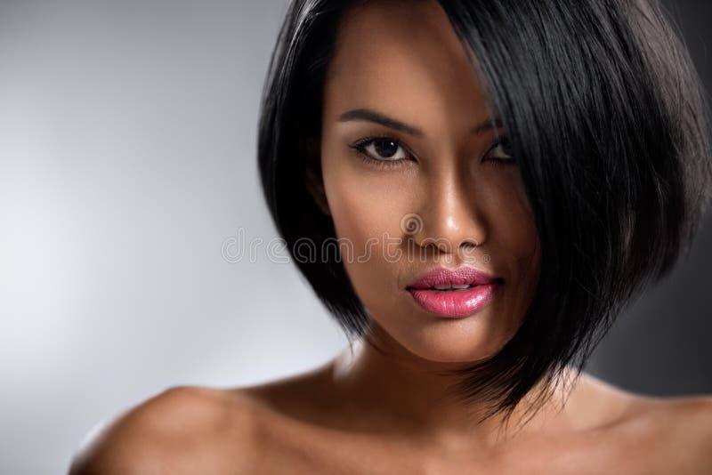 肉欲的亚裔妇女画象  免版税图库摄影