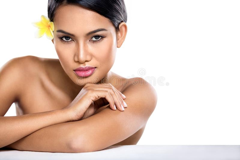 肉欲的亚裔妇女 免版税库存照片