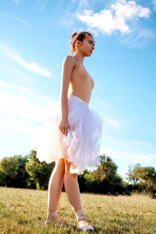 肉欲的芭蕾舞女演员本质上 免版税库存图片