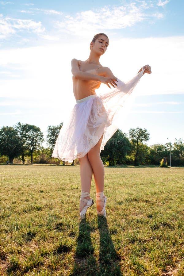 肉欲的芭蕾舞女演员本质上 图库摄影