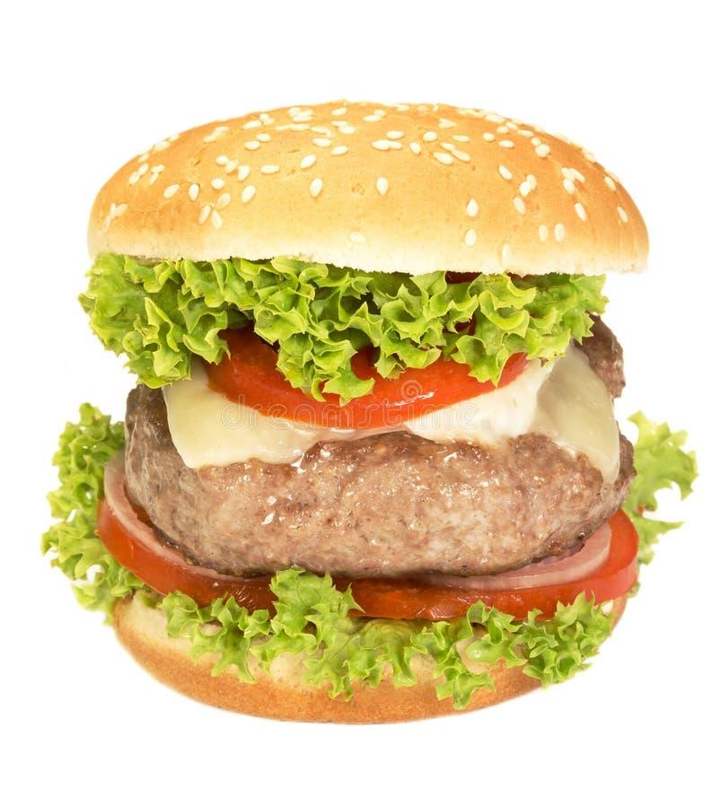 肉汉堡 免版税库存图片