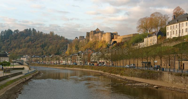 肉汤城堡在瓦隆,比利时 免版税图库摄影