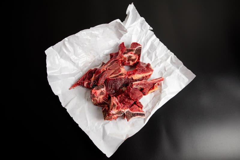 肉汤或股票的牛肉牛颈肉 免版税库存图片