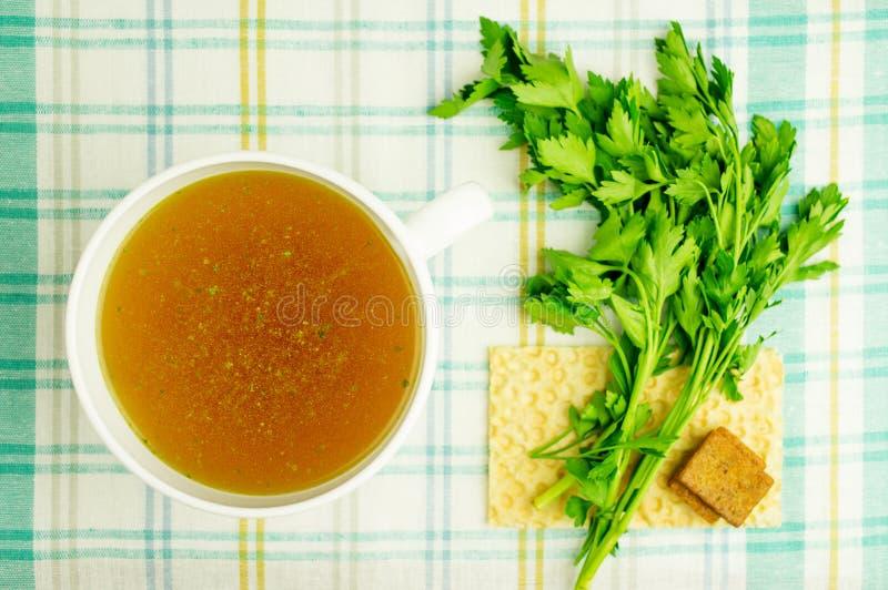 肉汤,汤,纯净汤 免版税图库摄影