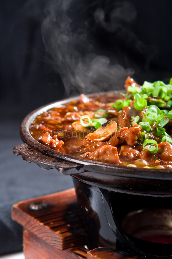 肉炖煮的食物 图库摄影