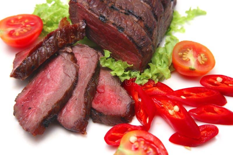 肉烘烤蔬菜 库存照片