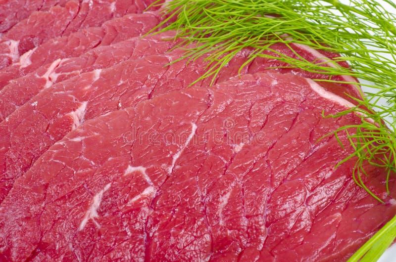 肉用牛肉橄榄 库存照片