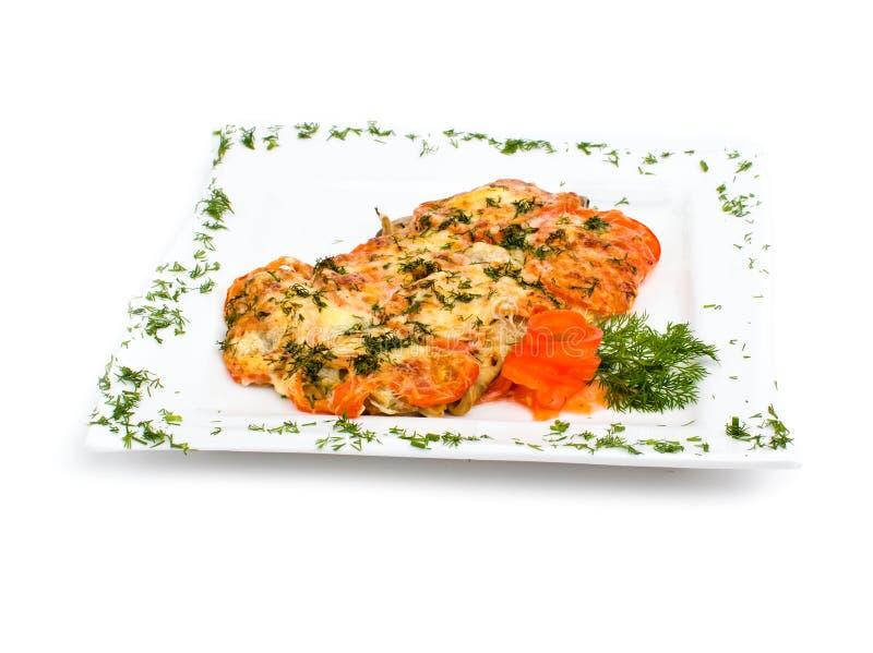 肉用蘑菇和酸性稀奶油 免版税图库摄影
