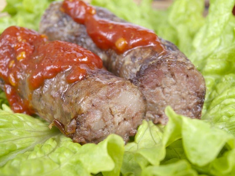 肉香肠 库存照片