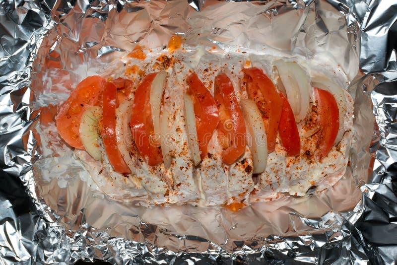 肉盘用蕃茄 图库摄影